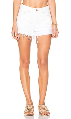 Short Stilt Cutoff Shorts in White