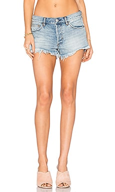 Soft & Relaxed Cut Off Shorts in Heller Denim