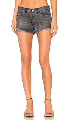 Soft & Relaxed Cut Off Shorts in Sulphur Black