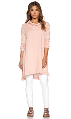 Free People In a Hurry Hoodie in Pink Sand