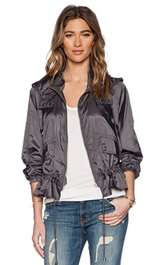 Free People Ripstop Parachute Jacket in Charcoal