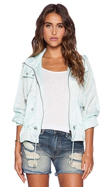 Free People Ripstop Parachute Jacket in Sky Blue