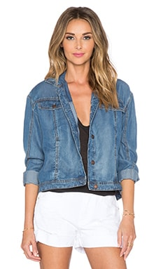 Free People Tencel Swing Jacket in Sapphire