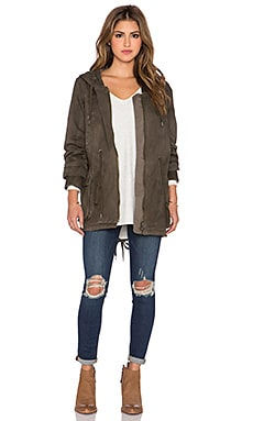 Free People Hooded Parka Jacket in Army