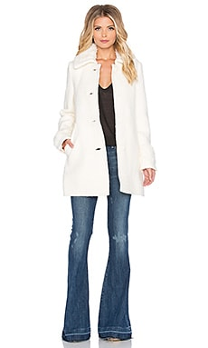 Free People Wooley Peacoat in Ivory