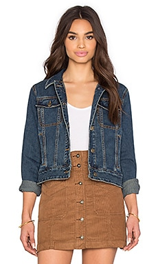 Free People Fitted Denim Jacket in Indigo