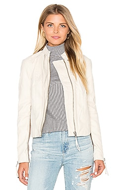 Cool and Clean Vegan Suede Jacket in Ivory