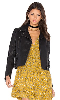 Soho Vegan Leather Jacket in Black