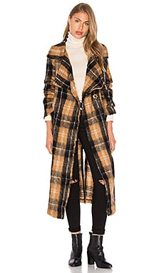 Free People Anahime Coat in Beige