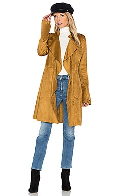 Faux Suede Meadow Jacket en Sable