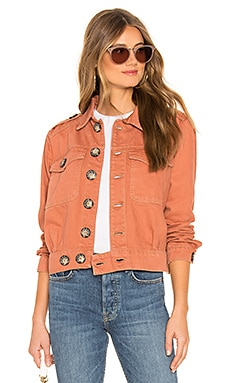 Denim Slouchy Eisenhower Jacket Free People $69