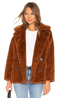 ABRIGO SOLID KATE FAUX FUR Free People $168
