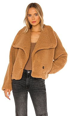 Izzy Wrap Teddy Jacket Free People $104