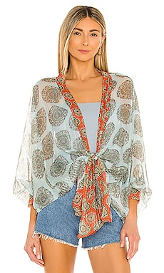 Kantha Shimmer Tie Kimono Free People $78