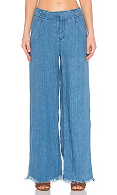 Relaxed Linen Pant in Indigo