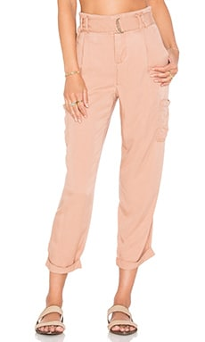 Free People Soft Cargo Pant in Peach