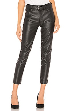 Belted Vegan Leather Skinny Pant Free People $148 BEST SELLER