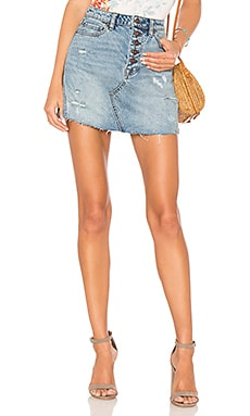 Denim A-Line Skirt Free People $60 BEST SELLER