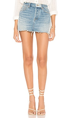 Patched Denim Mini Skirt Free People $60