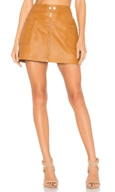 High A Line Vegan Leather Skirt Free People $40