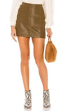 Modern Femme Vegan Suede Skirt Free People $42