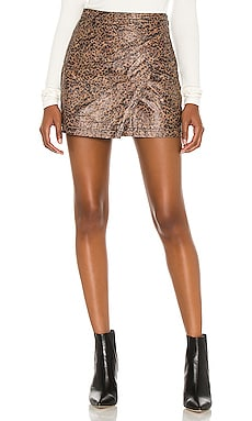 Printed Fake Out Faux Wrap Skirt Free People $59