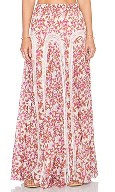 Free People Zoe Maxi Skirt in Misty Combo