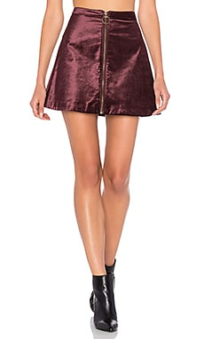 Free People Funkytown One and Only Skirt in Wine