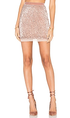 Sequin Mesh Wild Child Skirt in Rose