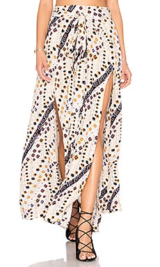 Remember Me Maxi Skirt in Elfenbein-Kombi