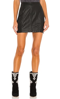 Modern Femme Vegan Mini Skirt Free People $60
