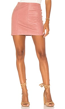 Modern Femme Vegan Suede Mini Skirt