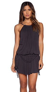 Free People Dust in the Wind Romper in Black Combo