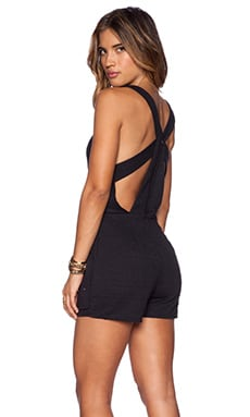 Free People Match Point Romper in Black