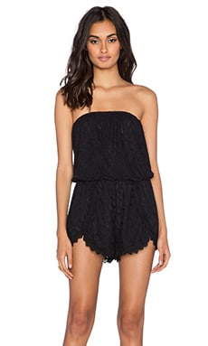 Free People Tahlia Lace Romper in Black