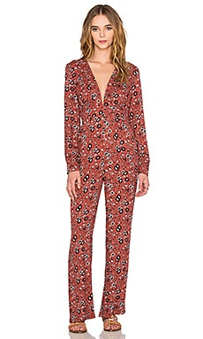 Free People Some Like it Hot Jumpsuit in Rust Combo