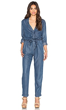 Lou Denim Jumpsuit in Imperial
