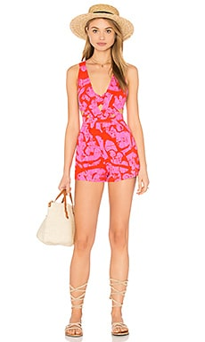Free People La Vida Romper in Pink Combo