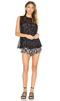Pretty Baby Printed Romper Dress in Black Combo