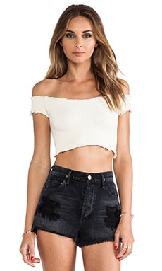 Smocked Seamless Crop Top