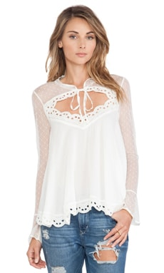 Black Magic Cutout Blouse in Ivory