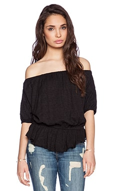 Free People Shades of Cool Top in Black
