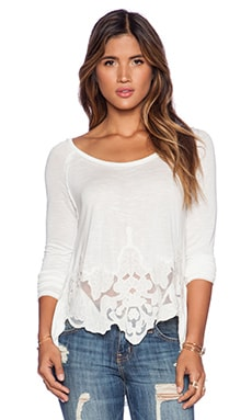Free People That's Amore Tee in Eggshell