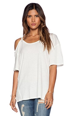 Free People Rib After Party Tee in Ivory