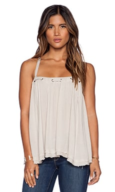 Free People Waiting For You Tank in Champagne