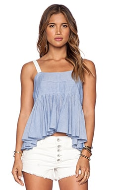 Free People Stripe Lolas Tank in Chambray Combo