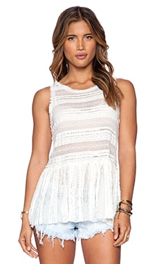 Free People Pucker Lace Tunic in Ivory