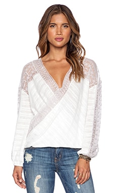 Free People Valley City Top in Ivory