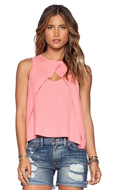 Free People Look Through Top in Coral