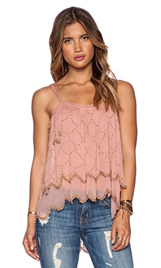 Free People Fairy Dust Tank in Dark Peach